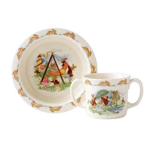$50.00 Classic Nurseryware 2-Piece Baby Set (Bowl, Two Handled Mug)