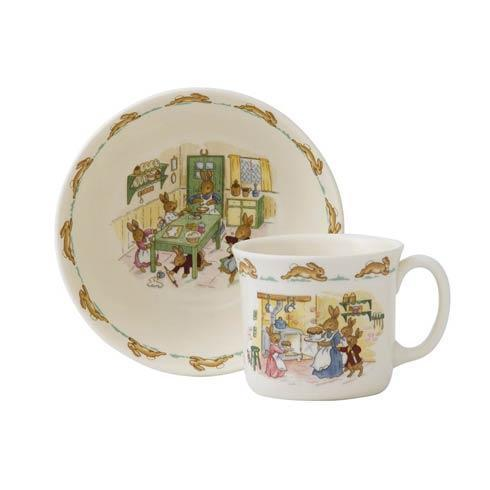 $41.00 Classic Nurseryware 2-Piece Infant Set (Bowl, 1 Handled Mug)