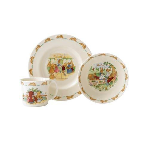 $59.00 Classic Nurseryware 3-Piece Childrens Set (Bowl, Plate, Mug)