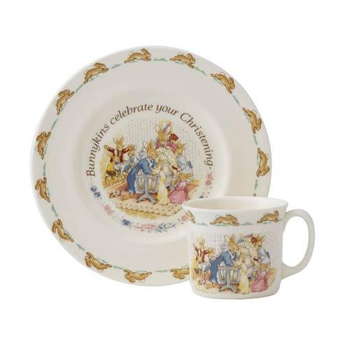 $52.00 Classic Nurseryware 2-Piece Christening Set (Plate, 1 Handled Mug)