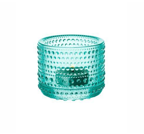 """$16.00 Tealight Candleholder - Watergreen 2.5"""""""