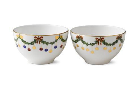 Royal Copenhagen  Star Fluted Christmas Chocolate Bowl S/2 $95.00