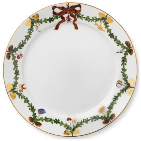 Royal Copenhagen  Star Fluted Christmas Dinner Plate $80.00