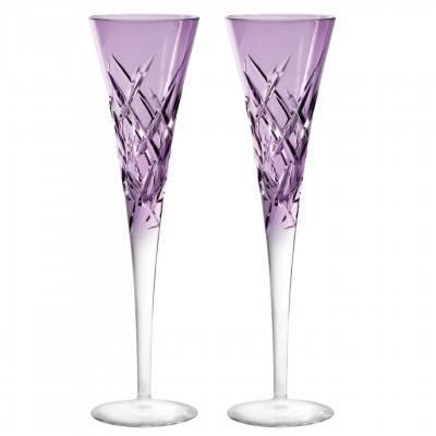 Toasting Flute Lavender Pair