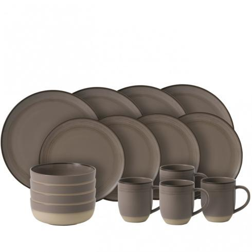 $118.00 Taupe 16 Piece Set