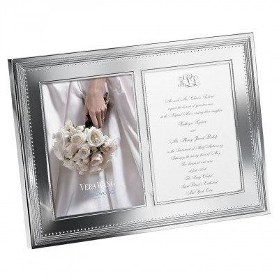 "Vera Wang  Grosgrain Double invitation Frame 5X7"" $110.00"