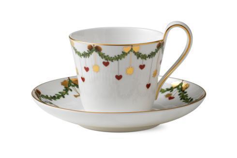 Royal Copenhagen  Star Fluted Christmas High Handle Cup & Saucer $95.00