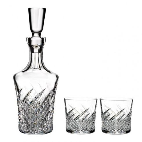 Decanter & 2 Rock Glasses