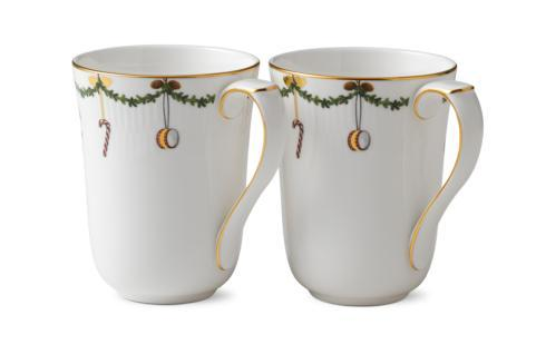 Royal Copenhagen  Star Fluted Christmas Mug Set/2 $85.00