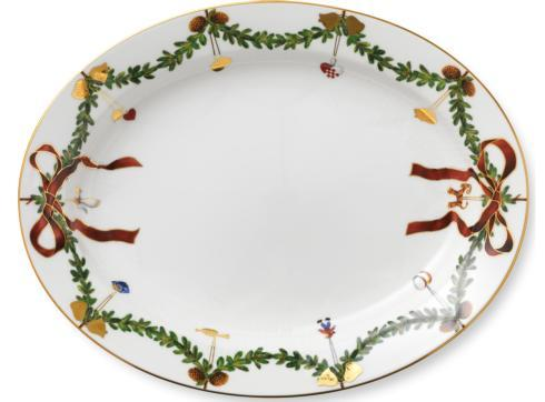 Royal Copenhagen  Star Fluted Christmas Oval Platter Large $235.00