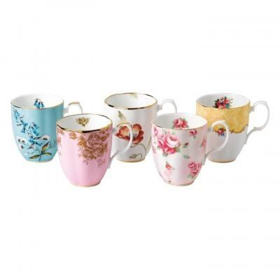 $140.00 1950-1990 5-Piece Mug Set