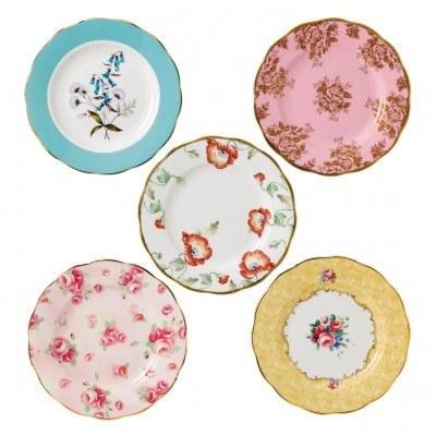 "$120.00 1950-1990 5-Piece Plate 8"" Set"