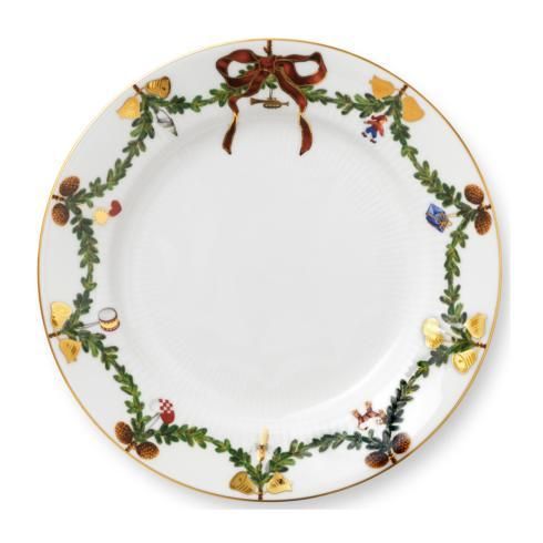 Royal Copenhagen  Star Fluted Christmas Salad Plate $55.00
