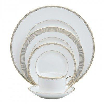 Vera Wang  Golden Grosgrain Low Imperial 5 piece plate setting $160.00