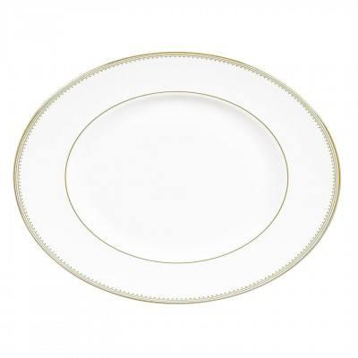 Vera Wang  Golden Grosgrain Oval Platter 35 cm / 13.7
