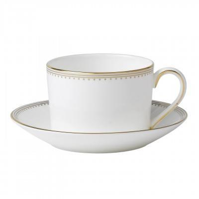 Vera Wang  Golden Grosgrain Tea Saucer Low $21.00