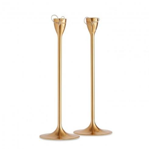 Vera Wang  Love Knots Gold Taper Candle Holder Pair $100.00