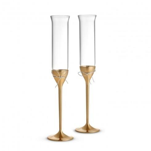 Vera Wang  Love Knots Gold Toasting Flute Pair $85.00