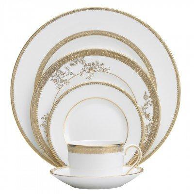 Vera Wang  Vera Lace Gold Low Imperial 5 piece plate setting $160.00