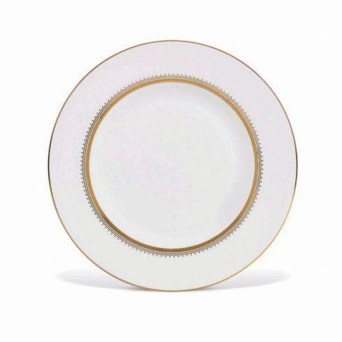 """Vera Wang  Golden Grosgrain Plate 23 cm / 9"""" Accnt $40.00"""