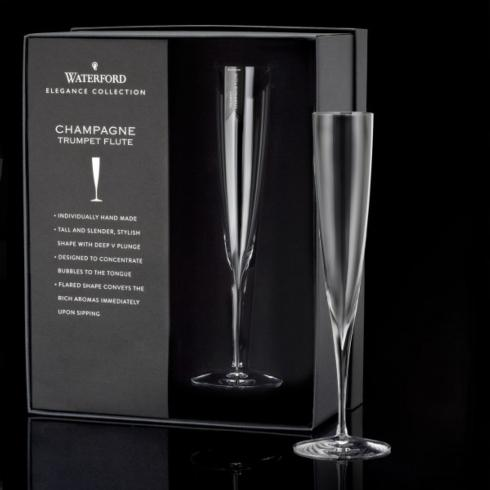 Waterford  Elegance  Champagne Trumpet Flute Pair $75.00