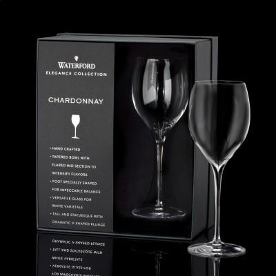 Waterford  Elegance  Chardonnay Wine Glass Pair $70.00