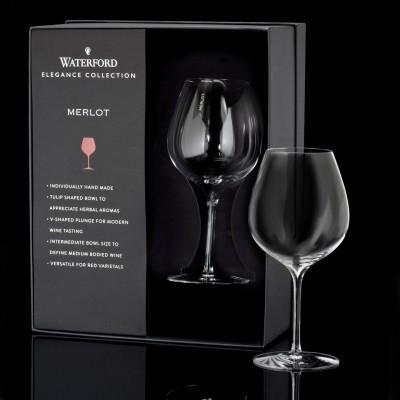 Waterford  Elegance Merlot Wine Glass Pair $75.00