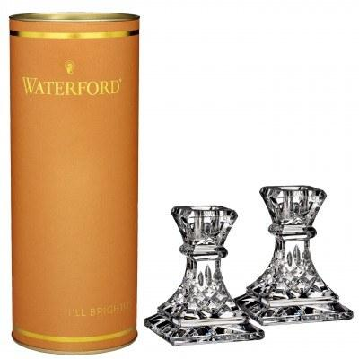 "Waterford  Giftology Lismore 4"" Candlestick Pair $180.00"