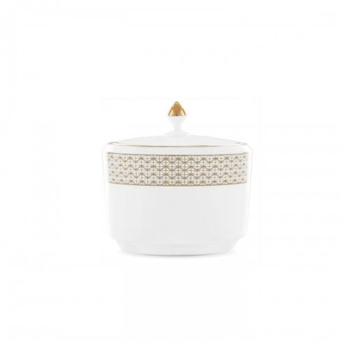 Waterford  Lismore Diamond Gold Covered Sugar $135.00