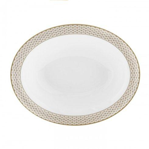 Waterford  Lismore Diamond Gold open vegetable dish $155.00
