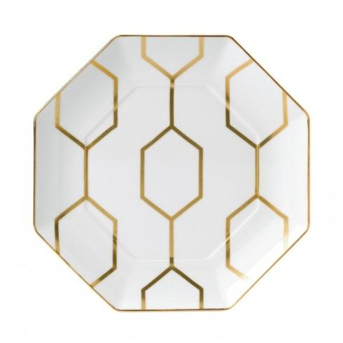 """$65.00 Accent Plate Octagonal White 9.1"""""""