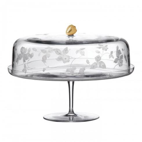 Wedgwood  Wild Strawberry Al Fresco Entertaining Crystal Cake Stand $393.75