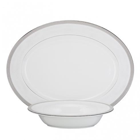 $325.00 Serving Set Platinum