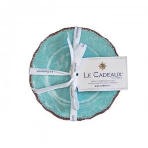Le Cadeaux   Appetizer (Set of 4), Antiqua Turquoise $31.95