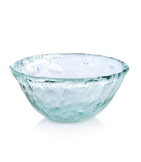 $36.00 Rustic Glass Large Round Serving Bowl