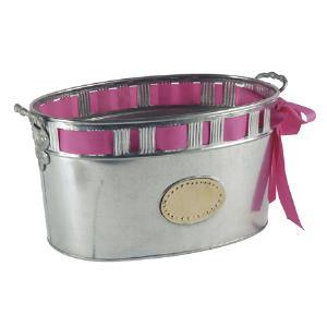 India Handicrafts   Galvanized Cut Out Tub $37.50