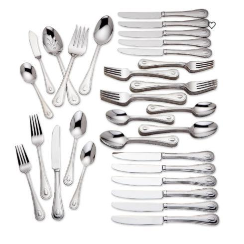 $159.95 French Perle™ 65-piece Flatware Set