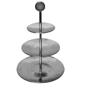 India Handicrafts   3 Tiered Hammered Stand $50.95
