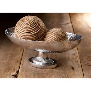 India Handicrafts   Hammered Oval Centerpiece $37.95