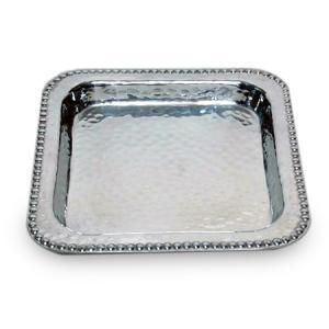 India Handicrafts   Square Beaded Tray $43.95