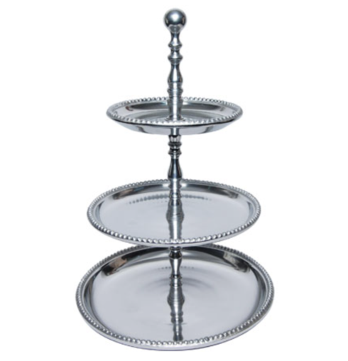 $100.00 Beaded Basic 3-Tier Stand