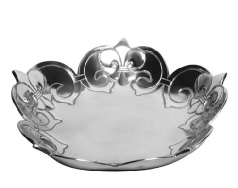 $50.95 Fleur de Lis Scalloped Bowl