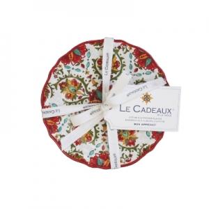 Le Cadeaux   Appetizer (Set of 4), Allegra Red $31.95