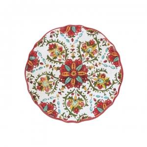 Le Cadeaux   Salad Plate, Allegra Red $13.95