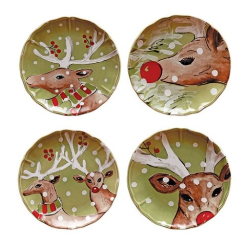 Young Jewelers Exclusives   Casafina Deer Friends Individaul Salad Plate $26.50