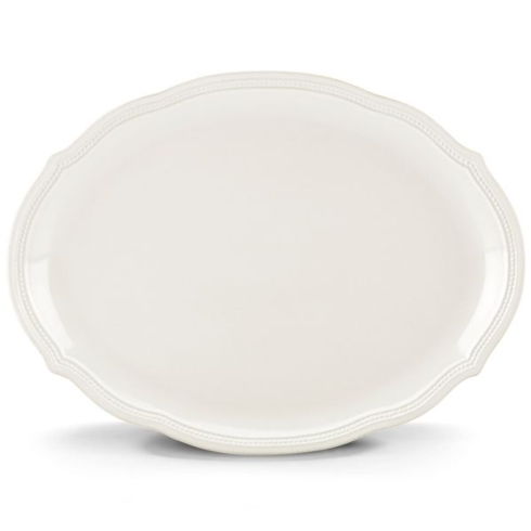 """$79.95 French Perle Bead 16"""" Oval Platter"""