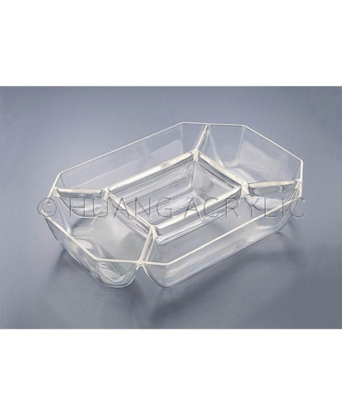 $13.95 Five Compartment Octagon Tray