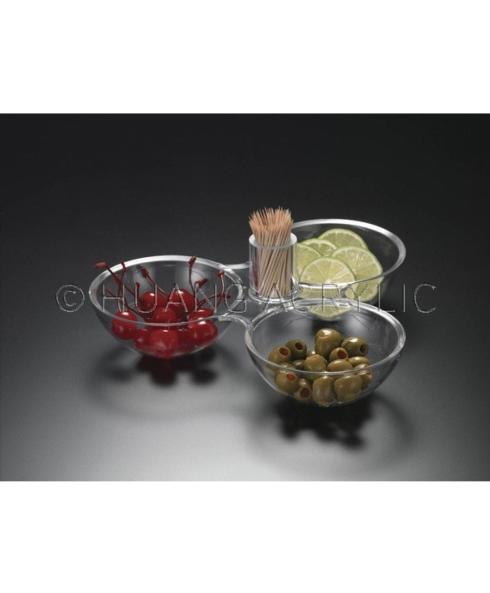 Huang Acrylic   3-Dish Holder $23.95