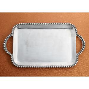 India Handicrafts   Beaded Rectangle Handled Tray $75.95