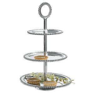 $125.00 Beaded 3-Tier Stand Large